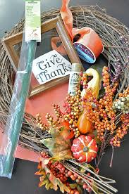 thanksgiving autumn wreath idea tutorial birdie secrets
