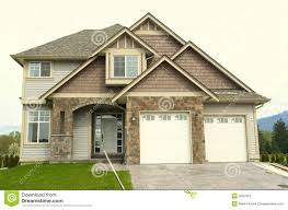House With Garage New Home House Front Garage Royalty Free Stock Image Image 5087816