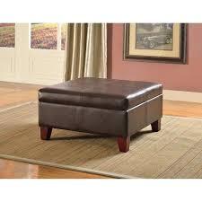 dark brown storage ottoman dark brown leather ottoman incredible square ottoman coffee table