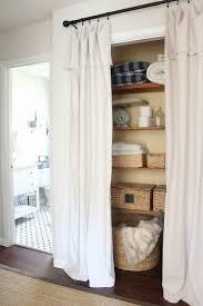 best closet door curtains ideas on curtain rod curtain on front