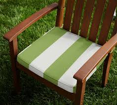 Sunbrella Bistro Chair Cushions Outdoor Piped Dining Chair Cushion Striped Sunbrella Pottery