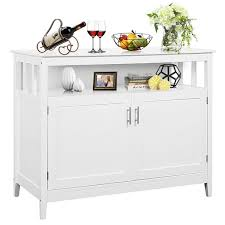 small kitchen cabinets walmart costway modern kitchen storage cabinet buffet server table sideboard dining wood white