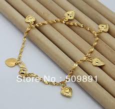 gold bracelet charms images Ba1180 high fashion 24 carat gold plated beads hearts charms jpg
