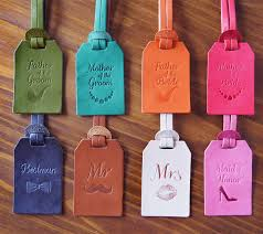luggage tag favors personalized wedding favors custom leather luggage tags