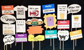 themed photo booth friends tv show themed photo booth props