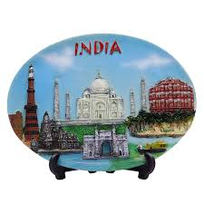 Home Decor Ebay by Indian Monuments Printed Ceramic Decorative Plate Souvenir Gift