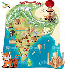 Bhopal India Map by Cartoon Map Of India Stock Vector Art 472290067 Istock
