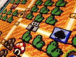 mario bros 3 maps look mario bros 3 map crocheted by one for six years
