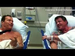 Stallone Meme - stallone schwarzenegger in hospital youtube
