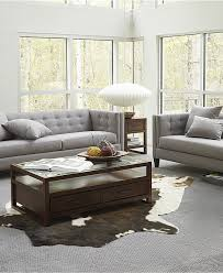 Grey Livingroom by Braylei Track Arm Sofa Collection Created For Macy U0027s Grey
