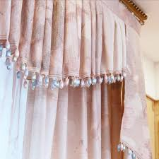 Peach Floral Curtains Floral Print Linen Bedroom Or Living Room Elegant Curtains
