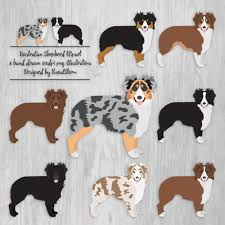 australian shepherd embroidery designs australian shepherd clipart digital dog illustrations herding dog