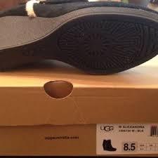 ugg australia alexandra water resistant suede wedge boot 50 ugg shoes brand ugg suede wedge booties from helen s