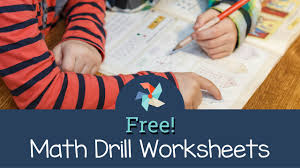 free math drill worksheets the tutor coach