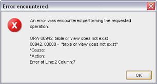 Ora 00942 Table Or View Does Not Exist Lab 2 2 The Anatomy Of A Select Statement Oracle Sql The Basics