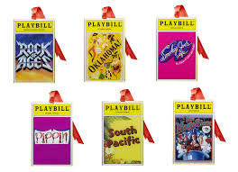 2016 playbill ornaments from the broadway cares classic collection