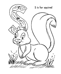 preschool squirrel coloring pages with animal coloring pages of