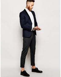 asos tux shirt with cutaway collar and double cuff in white for