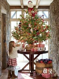 xmas tree on table tiny christmas tree on a table w burlap base this could work just