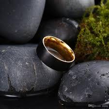 black rock rings images Simple design outside the black men 39 s stainless steel ring carbon jpg