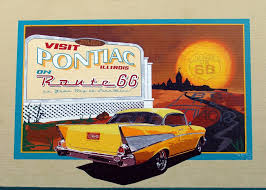 Route 66 Illinois Map by Online Shop America Route 66 Signs Propaganda Pop Art Classic