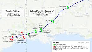 houston louisiana map gulf coast struggles to get gasoline flowing as refineries remain shut