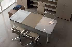 bureau chrome bureaux de direction bureau cuir bicolore et chrome mobilier de