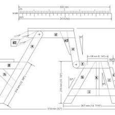 Folding Picnic Table Plans Folding Picnic Table Front Elevation Plan чертежи столярных