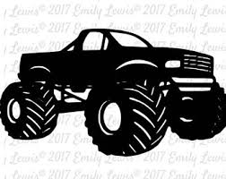 monster truck svg etsy
