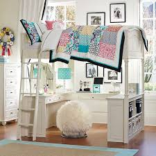 Bunk Bed With A Desk Chelsea Vanity Loft Bed Pbteen