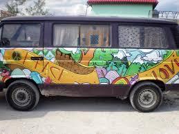 volkswagen van hippie peace and love hippie volkswagen van editorial photography image