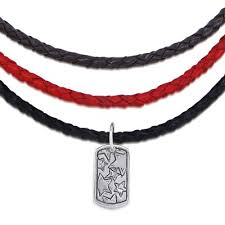 red leather necklace images Braided leather necklace silver elements collection jpg