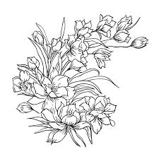 drawing of flower bouquet best drawing sketch ideas hand