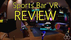 sports bar vr review psvr youtube