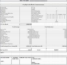 salary receipt template salary sheet slip format formats examples in word excel