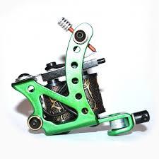 green colour tribal tattoo machine