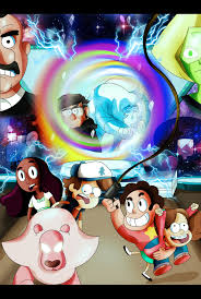 gravity falls gravity falls and steven universe by xeternalflamebryx on deviantart
