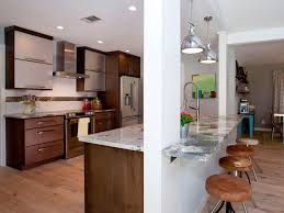 modern design open kitchen with breakfast bar khabars with regard