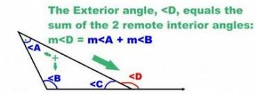 What Is Interior And Exterior Angles Remote And Exterior Angles Of A Triangle