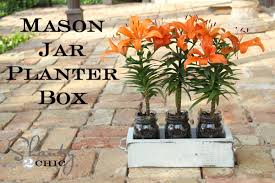Cheap Planter Boxes by Mason Jar Planter Box For Mother U0027s Day Shanty 2 Chic