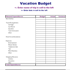 Travel Budget Template Excel Travel Budget Template Excel