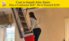 cost to install attic stairs youtube