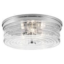 chrome flush mount light shop kichler 13 5 in w chrome flush mount light at lowes com
