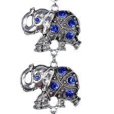 blue evil eye 5 lucky elephants amulet protection wall hanging