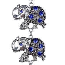 Home Decor Elephants Blue Evil Eye 5 Lucky Elephants Amulet Protection Wall Hanging