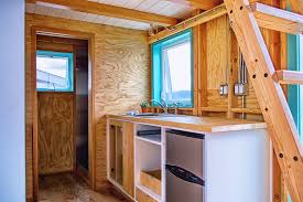 Tiny House Kitchens by New Tiny House Design Exposes Framing And Electrical Curbed
