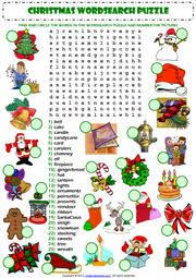 esl christmas worksheets christmas crossword key worksheet free