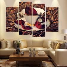 kitchen canvas wall art modern nostalgic coffee flower