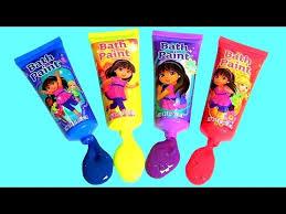 learn colors dora the explorer bath paint mickey minnie bath bomb