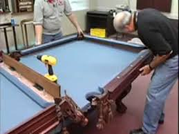 how to install a pool table pockets and rails home billiards